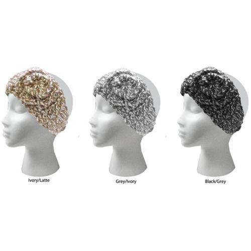 DDI 1488916 Ladies Marled Flower Knit Earband Case Of 48