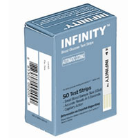 Infinity Automatic Coding Blood Glucose Monitoring Test Strips, 50 Ea