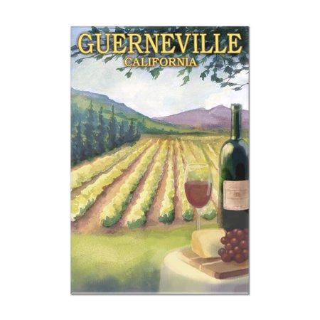 Guerneville, California - Wine Country & Vineyard Scene - Lantern Press Artowrk (8x12 Acrylic Wall Art Gallery Quality)
