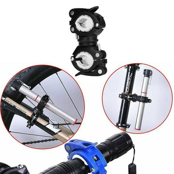 360°Rotation Bicycle Front Light Bracket Flashlight Holder Torch Clip Mount