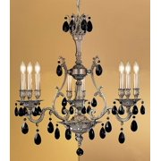 Majestic 9-Light Crystal Chandelier (Aged Bronze - Crystalique Golden Teak)