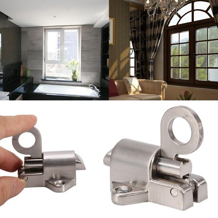 Latch Lock,Zerone Window Gate Security Pull Ring Spring Bounce Door Bolt Aluminum Latch Lock