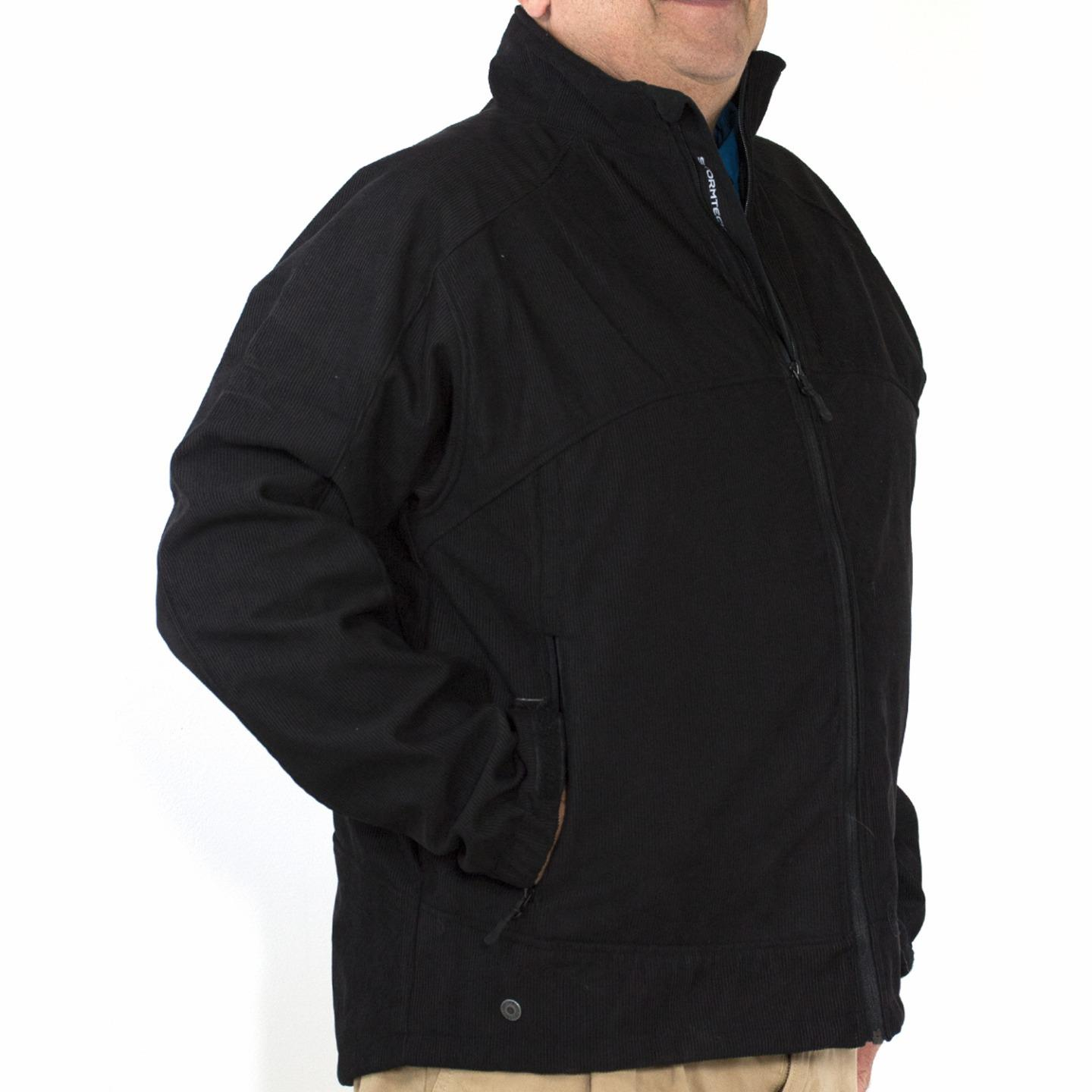 Mens Stormtech BTX-2 Corduroy H2XTREME Waterproof Jacket Black 2XL