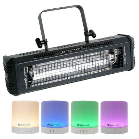American DJ Mega Flash DMX 800w DMX Strobe Light w/ Sound Sensor + Free -