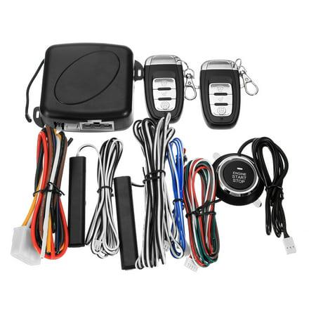 9 Pcs Universal Car Auto SUV Q6C Keyless Entry Start Engine Alarm System Push Button & Remote  Starter Lock &