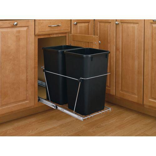 revashelf series single bin replacement trash can 30 quart capa walmartcom