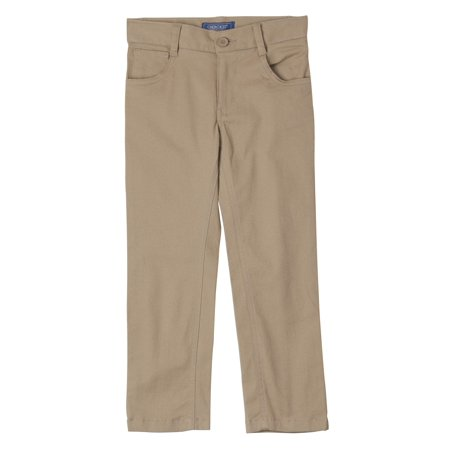 Cherokee Boys 4-18 School Uniform Modern Fit Stretch Twill 5 Pocket Pants