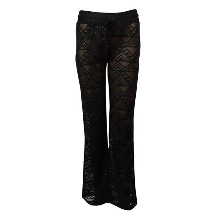 cfe4dd121b Miken - Miken Women's Crochet Lace Swim Pants Cover Up - Walmart.com