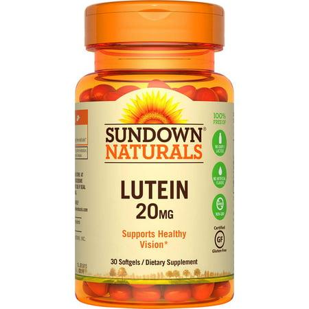 Sundown Naturals Lutein Dietary Supplement Softgels, 20mg, 30 (Best Natural Focus Supplement)