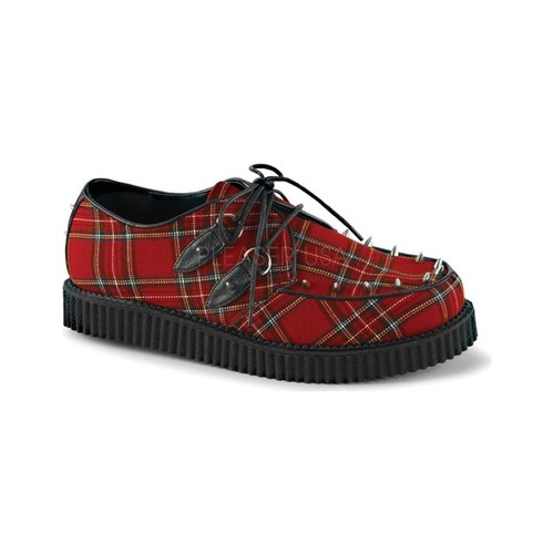 Men's Demonia Creeper 603 Plaid Creeper by PleaserUSA