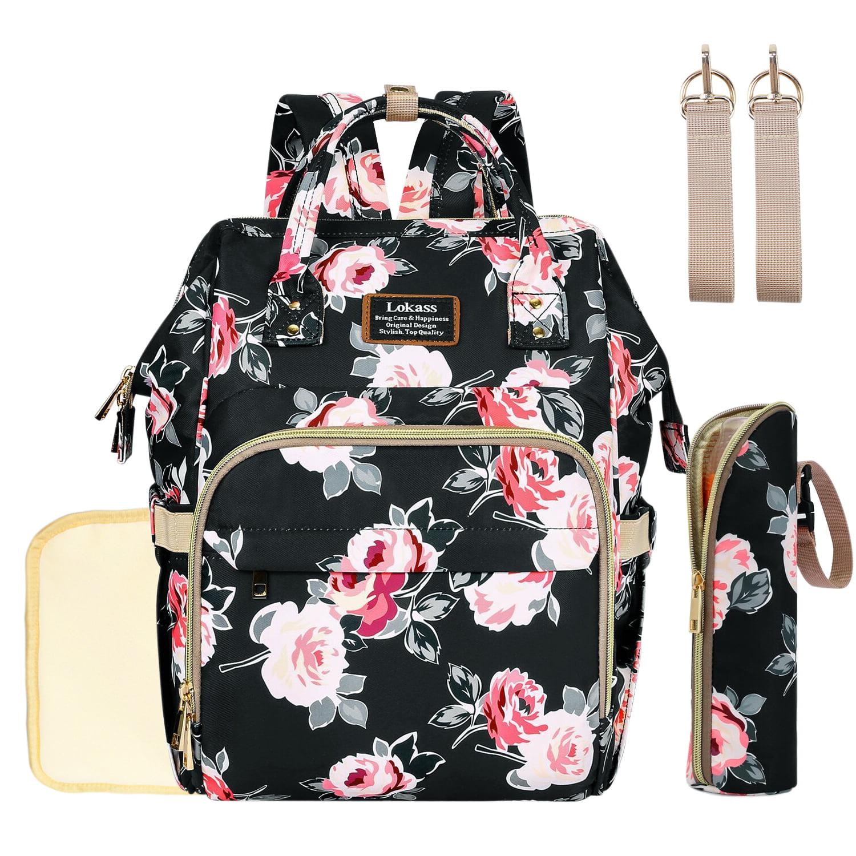 Laptop Backpack Waterproof Diaper Bag Nursing Bag Travel Nappy Tote Bags Multi-Function School Business Daypack Doctor Bag Retro Patten