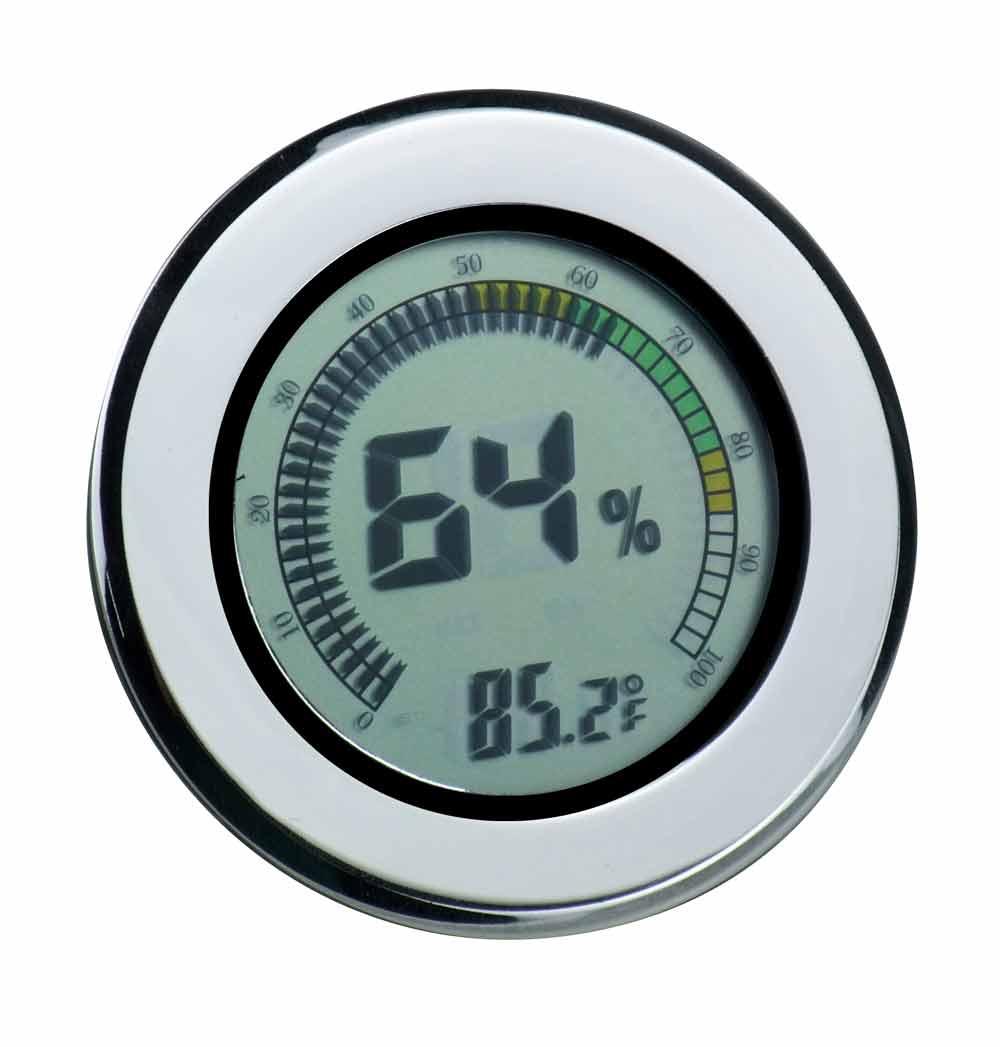 Visol Modern Circular Digital Hygrometer by Overstock