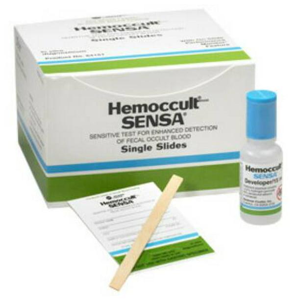 Hemoccult Sensa Rapid Diagnostic Test Kit Single Slides Colorectal Cancer Screen Box Of 100 Walmart Com Walmart Com