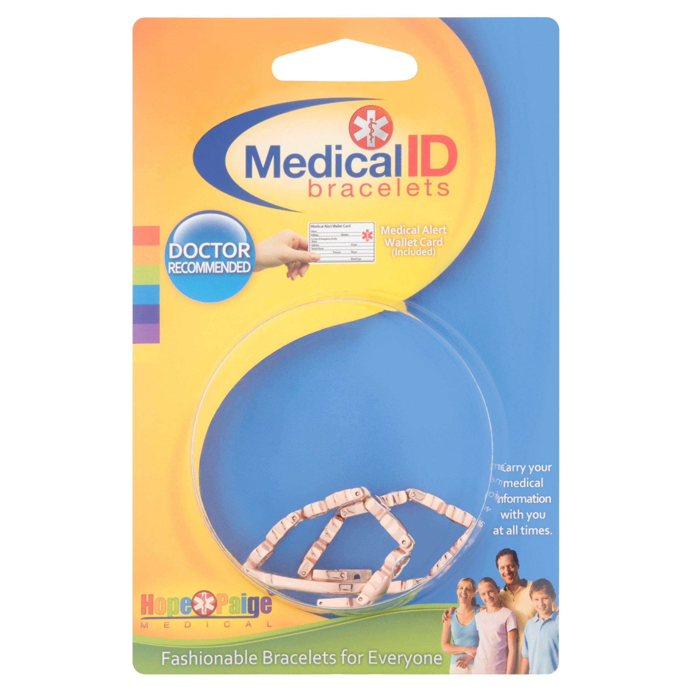 Hope Paige Medical Rose Color Medical ID Bracelets