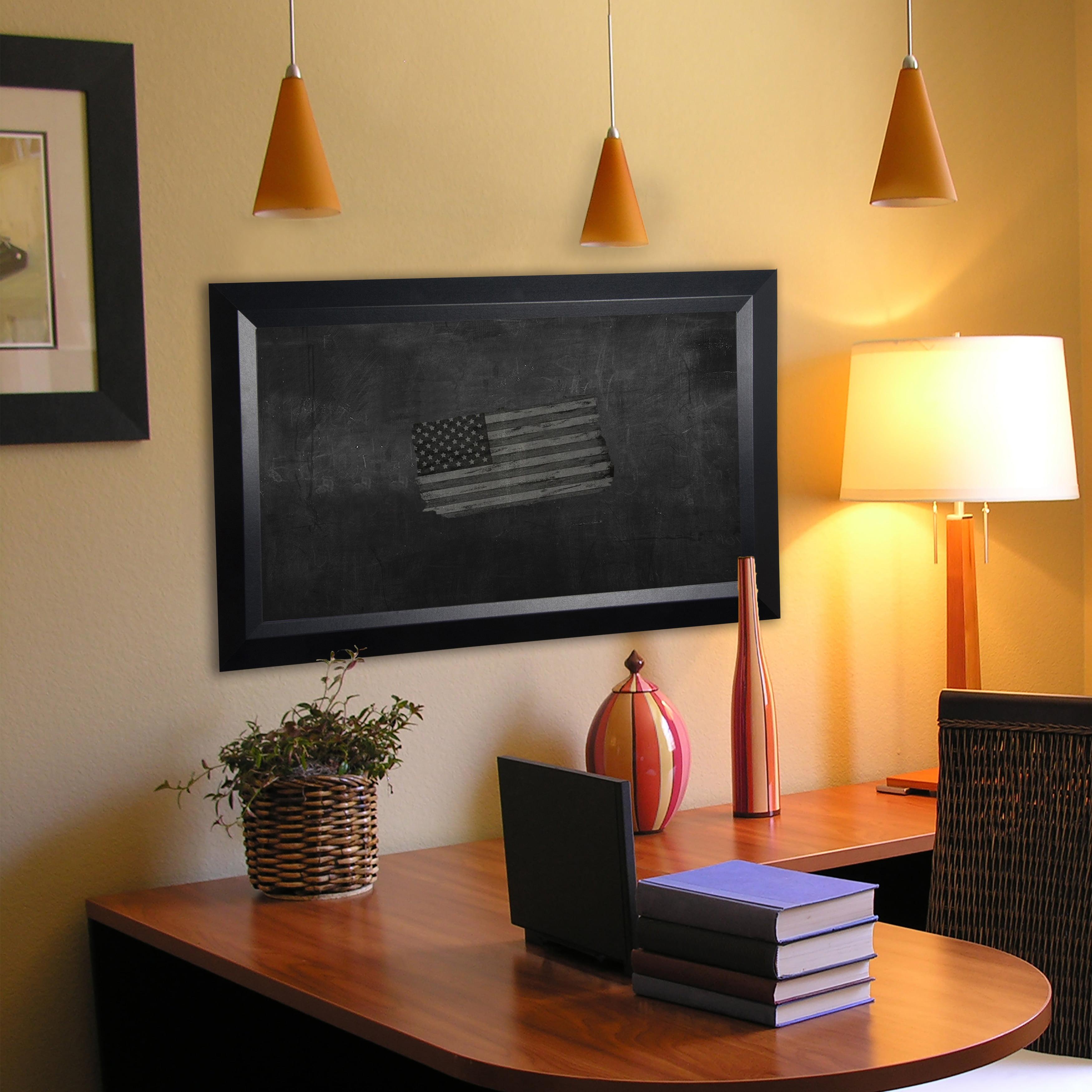 Rayne Mirrors American Made Rayne Solid Black Angle Blackboard/Chalkboard