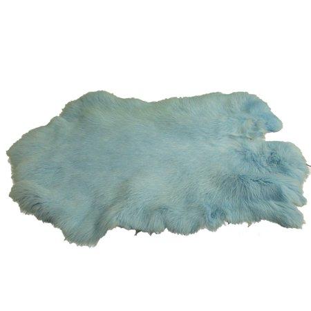 Dyed Rabbit Pelt - Baby Blue ()