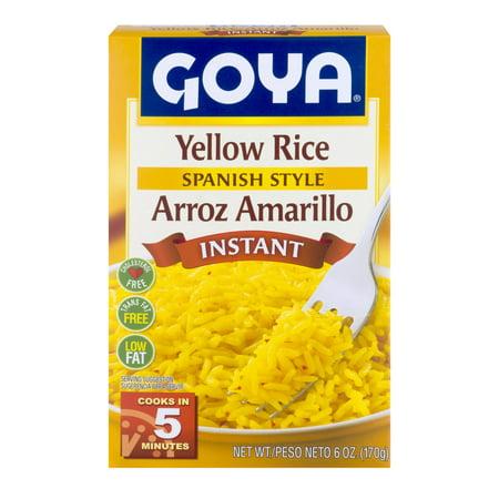 Goya Spanish Style Instant Yellow Rice 60 Oz Walmart