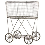 Cape Craftsmen Metal Wire Basket on Wheels