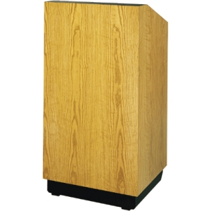 "Da-Lite 42"" Lexington Special Needs Adjustable Lectern with Rectilinear Design Deluxe Sound and Veneer Finish"