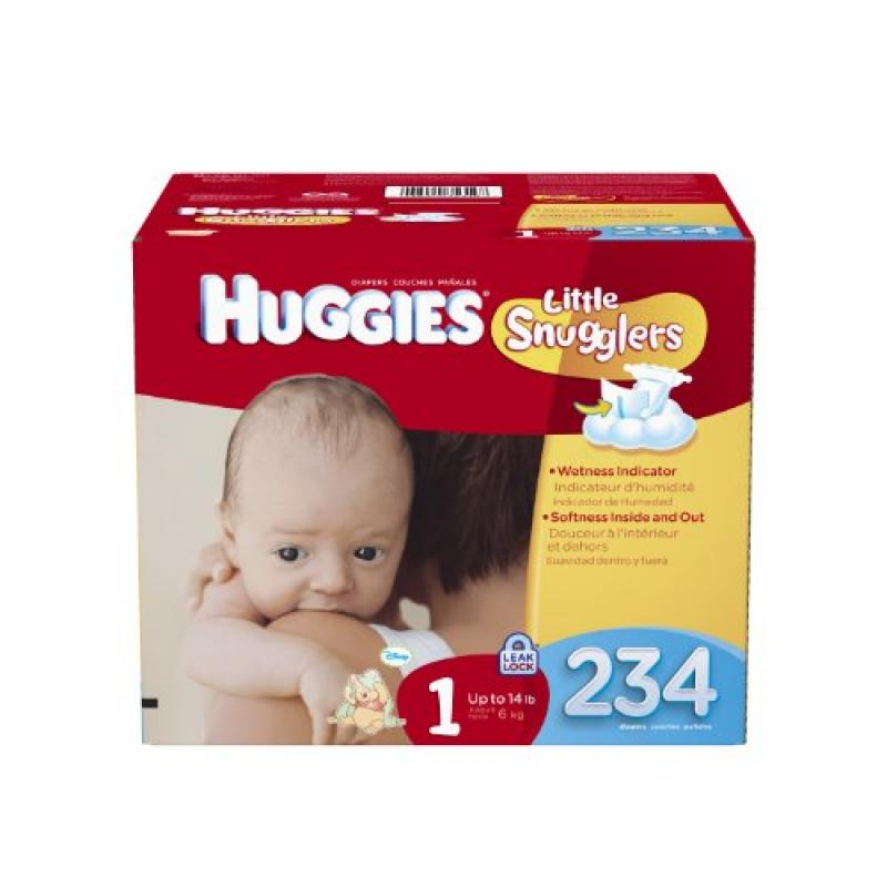 Huggies Little Snugglers Diapers Size 1 - 234 CT