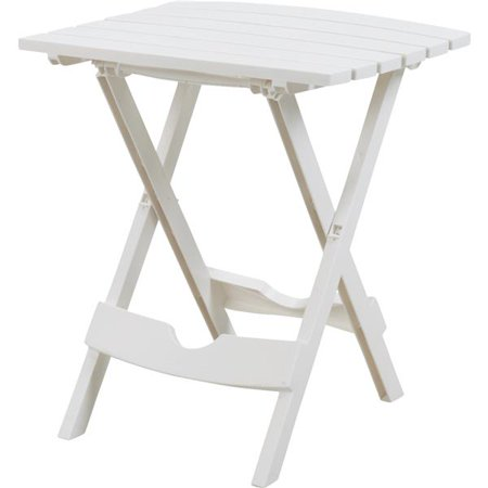 Adams Manufacturing Quik-Fold Side Table, White