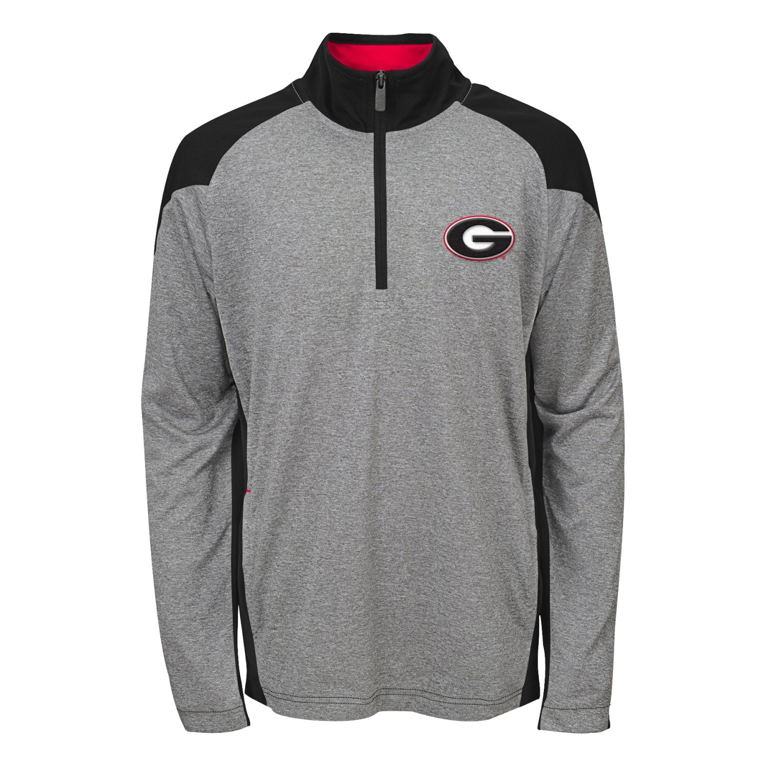 "Georgia Bulldogs NCAA ""Helix"" Men's 1 4 Zip Pullover Jacket by Gen2"