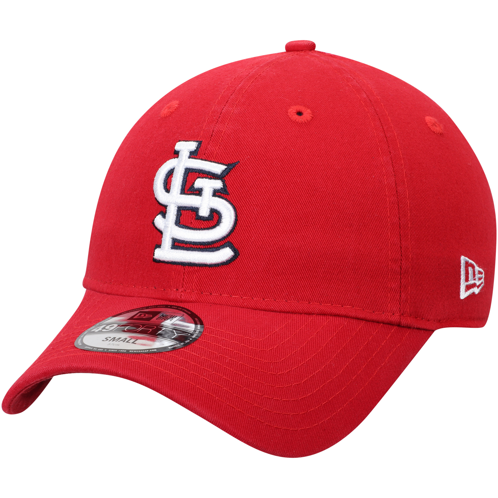 St. Louis Cardinals New Era Core Fit Replica 49FORTY Fitted Hat - Red