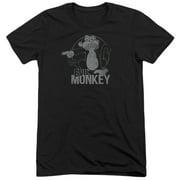 Family Guy Evil Monkey Mens Tri-Blend Short Sleeve Shirt
