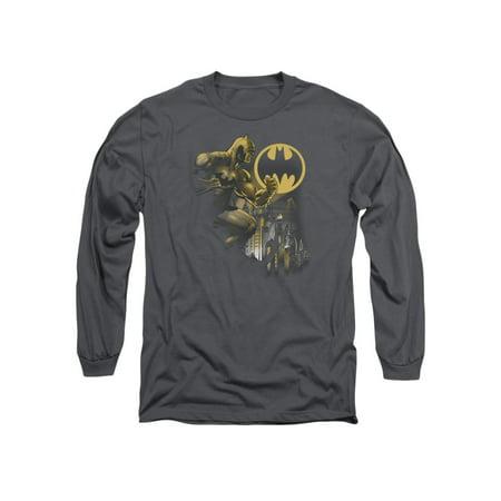 Batman DC Comics Bat Signal Adult Long Sleeve T-Shirt - Comics Adult