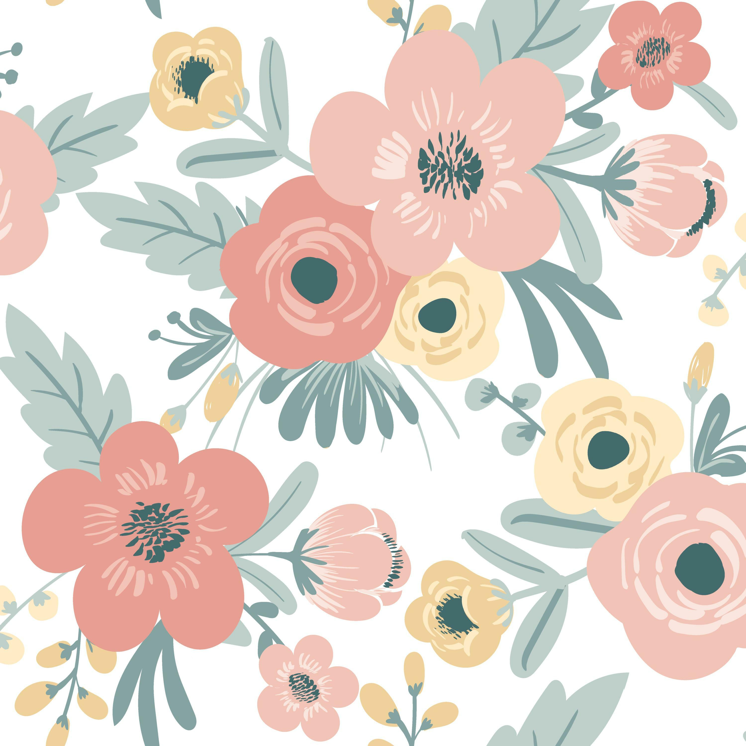 RoomMates Poppy Floral Peel and Stick Wallpaper - Walmart ...