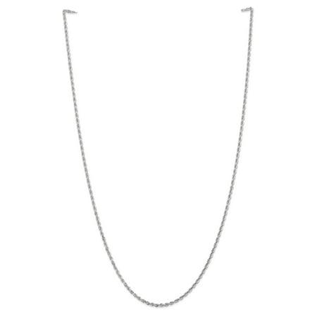 14k White Gold 2.25mm D/C Quadruple Rope Chain