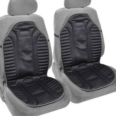 (BDK Foam Pad Car Seat Cushion, 2pc Ergonomic Cover, Black)