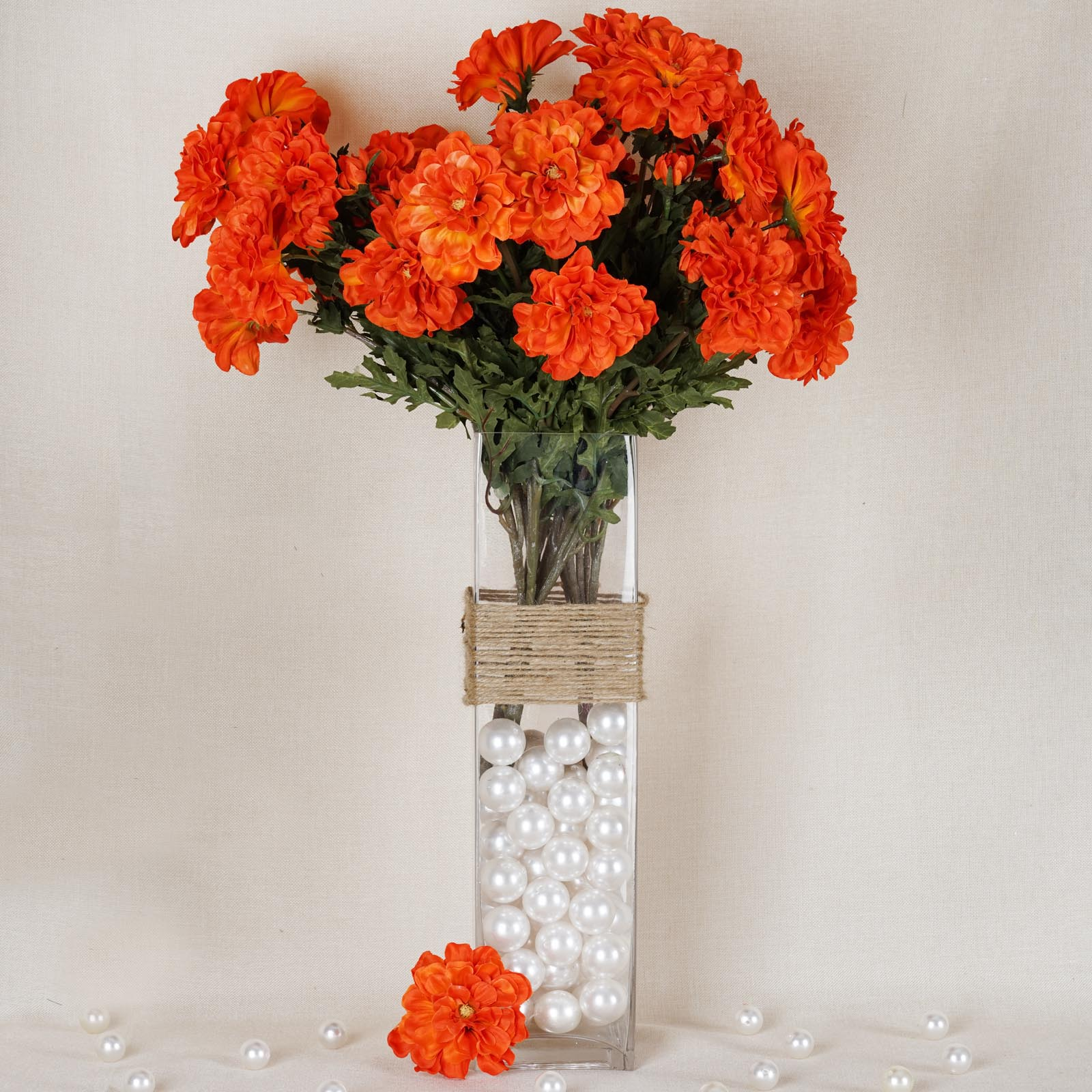 BalsaCircle 4 California Zinnia Artificial Wedding Craft Flowers - DIY Home Party Bouquets Arrangements Centerpieces