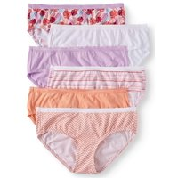 Secret Treasures Women's cotton stretch hipster panties, 6-pack