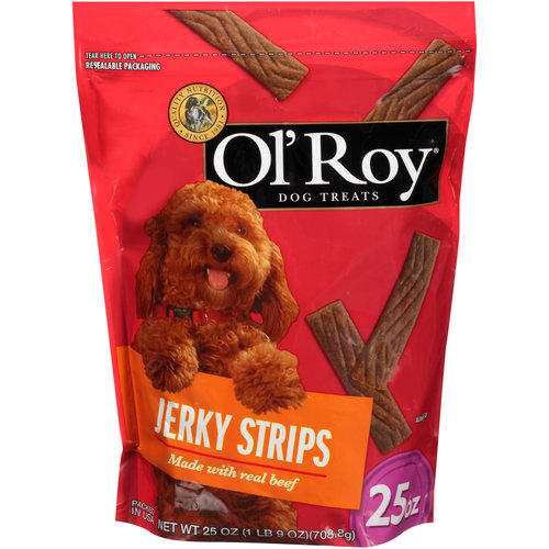 Ol' Roy Jerky Strips With Real Beef Dog Treats, 25-Ounce