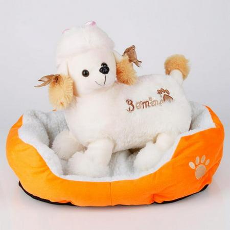 Ktaxon Pet Dog Puppy Cat Soft Fleece Cozy Warm Nest Bed House Cotton Mat Size S (Petstages Cozy Calming Mat)
