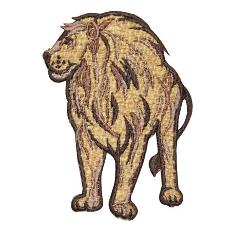 Kings Applique (ID 0695 African Safari Lion Patch Predator King Embroidered Iron On)