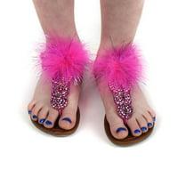 "Zucker Feather Products Feather Shoe Clip w/Marabou Lurex - 3.5"" - 2 pcs - Pink Orient/Purple Lurex"