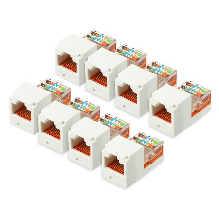 8 Pack Cat5e Keystones Jacks  Rj45 Cat 5E Network Module 10G Ethernet Solution