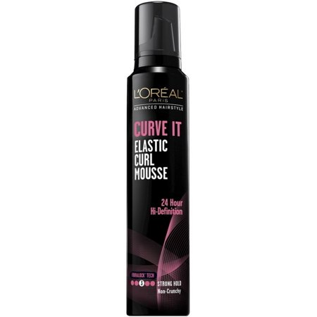 L'Oreal Advanced Hairstyle Curve It Elastic Curl Mousse, Strong Hold 8.30 oz (Pack of