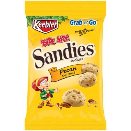 Keebler Sandies Pecan Shortbread Cookies Bite Size, 3 Oz, 6 count