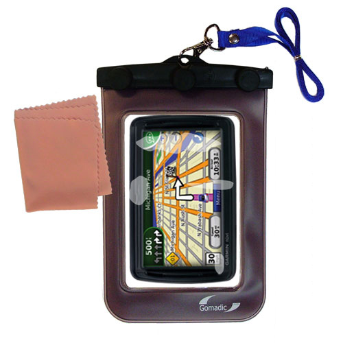 Gomadic Clean and Dry Waterproof Protective Case Suitablefor the Garmin Nuvi 855 to use Underwater