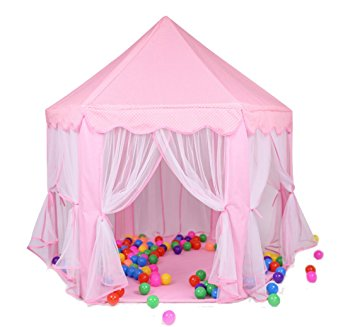 Portable Fun Hexagon Indoor Princess Castle Play Tent