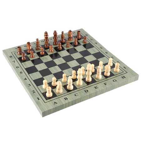International Chess Set Portable Wooden Chessboard Chess Game For Travel Party Family Activities Slumber Party Activity Game