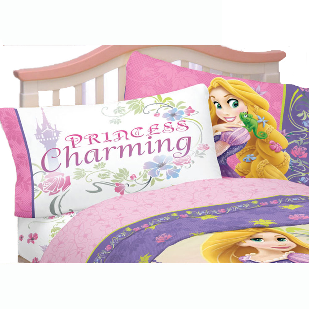 3pc Disney Tangled Twin Bed Sheet Set Rapunzel Princess Charming Bedding Accessories