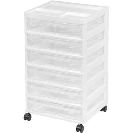 Iris 6 Case Scrapbook Cart  White