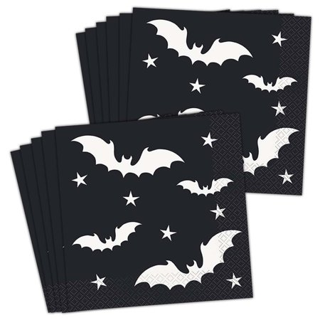 Black Bats Halloween Lunch Napkins (60)](Halloween Lunches For Kids)