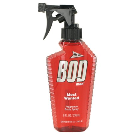 Bod Man Most Wanted Body Spray for Men, 8 fl.oz
