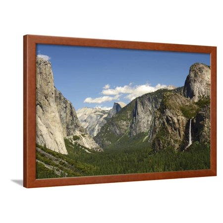 Bridal Veil Falls from Tunnel View, Yosemite NP, California, USA Framed Print Wall Art By Michel Hersen