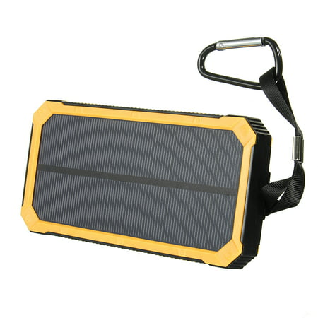 300000mAh Portable Solar Power Bank with Dual USB Charger With LED Flashlight + Carabiner + USB Cable For Smart Phone  - image 4 de 8
